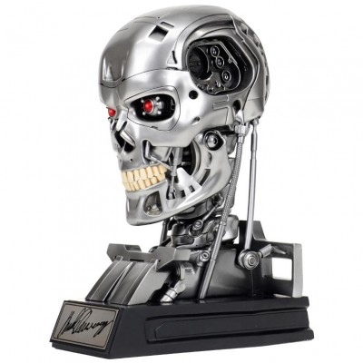 T-800 Endoskeleton 1:1 Scale Bust Arnold Schwarzenegger Signature Edition