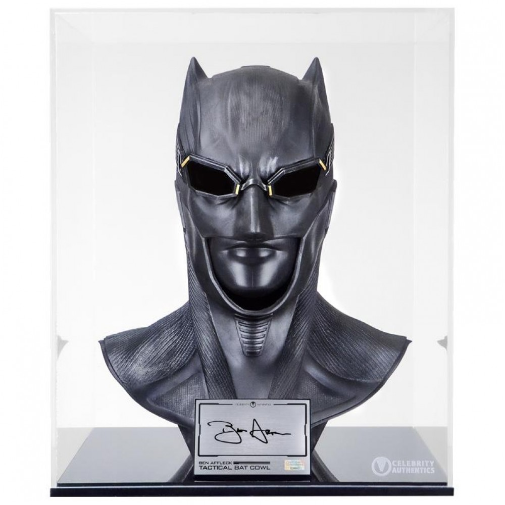 Masque de Batman Autographié par Ben Affleck Batman v Superman : L'Aube de la justice Taille Réelle