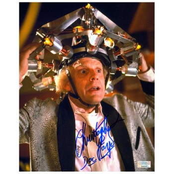 Christopher Lloyd Autographed Back to the Future Doc Brown Photo
