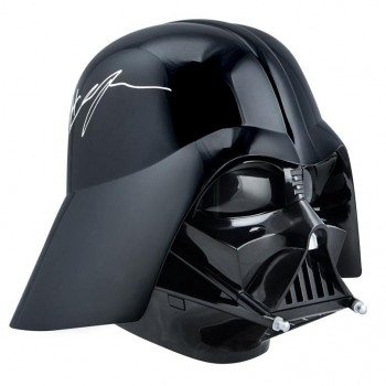 Casque Star Wars Dark Vador taille 1:1 signé par Hayden Christensen
