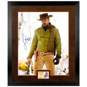 Jamie Foxx Autographed Django Unchained Framed Photo