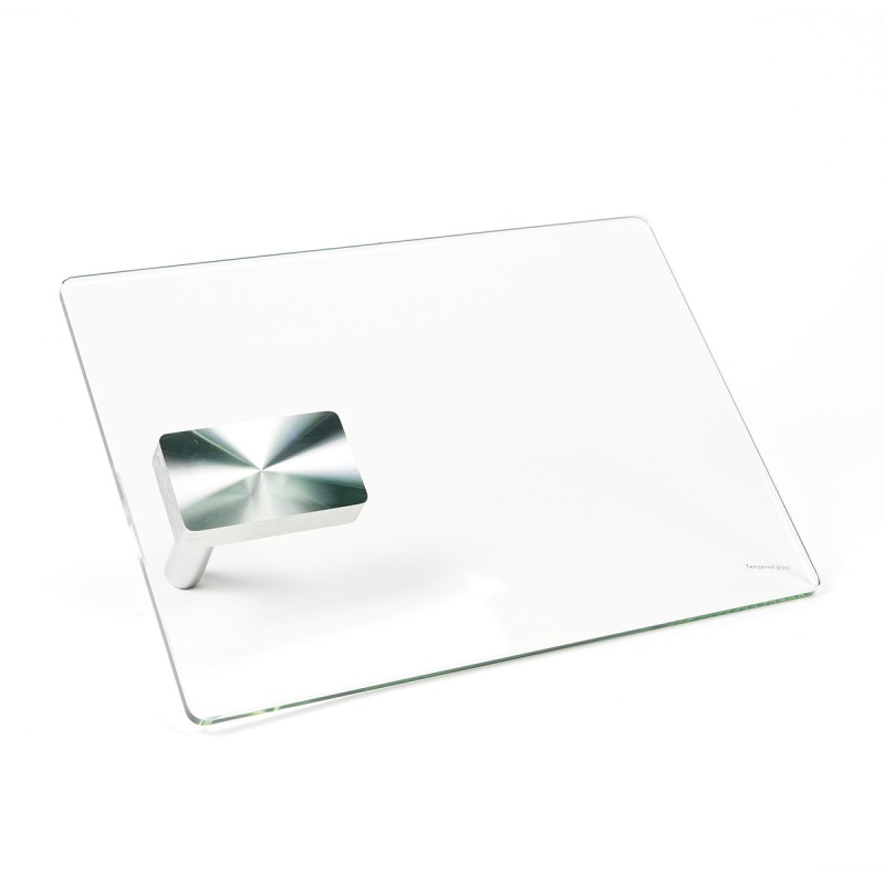 Tablette pivotante en verre