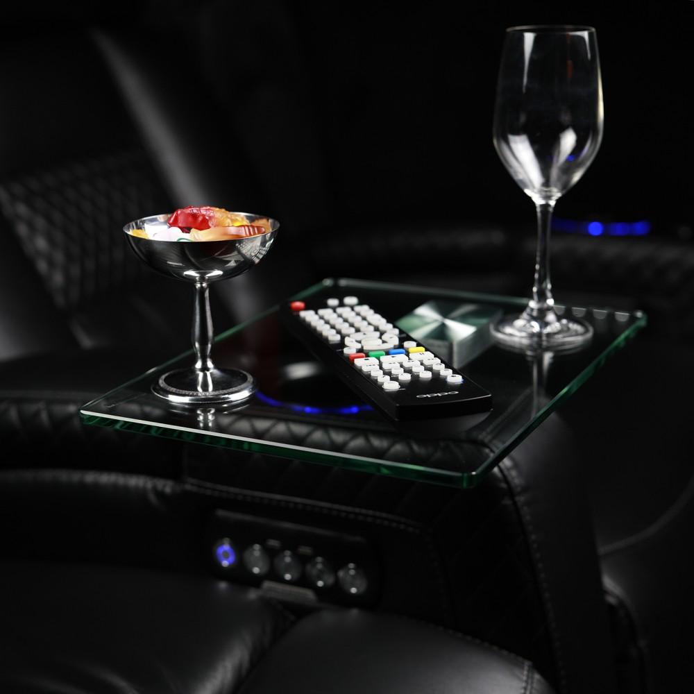 Glass Swivel Table